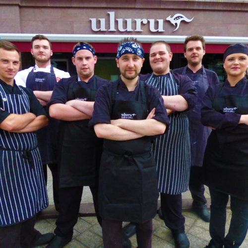 The chefs at Uluru Bar & Grill in Armagh
