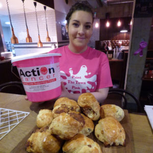 Uluru staff help raise £300 for Action Cancer.